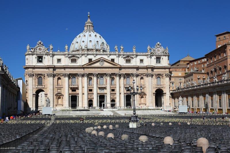 Musée de Vatican dans la basilique de la rue Peter à Rome images libres de droits