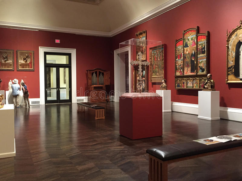 Musée de visite Dallas TX de prés image libre de droits