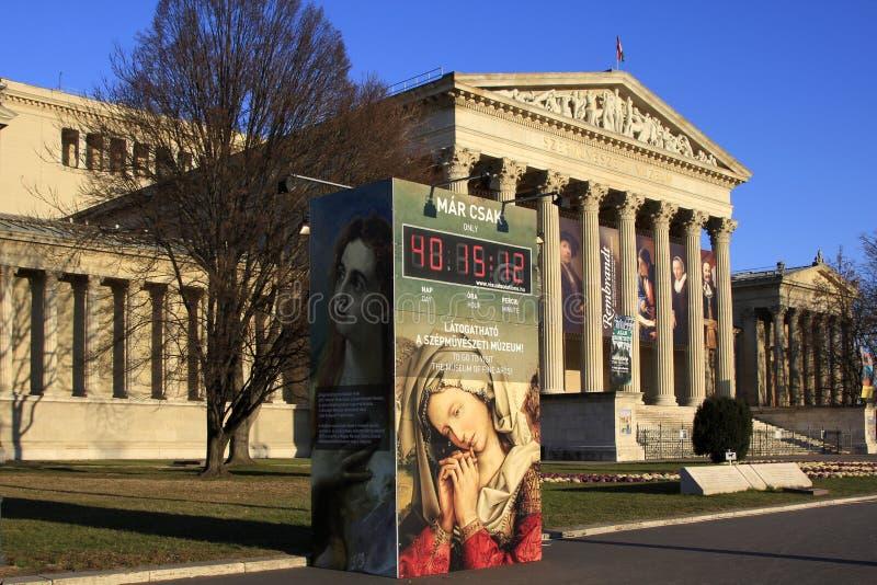 Musée des beaux-arts à Budapest images stock