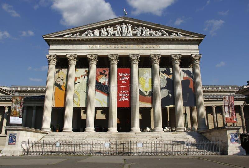 Musée des beaux-arts dans les héros carrés photographie stock libre de droits