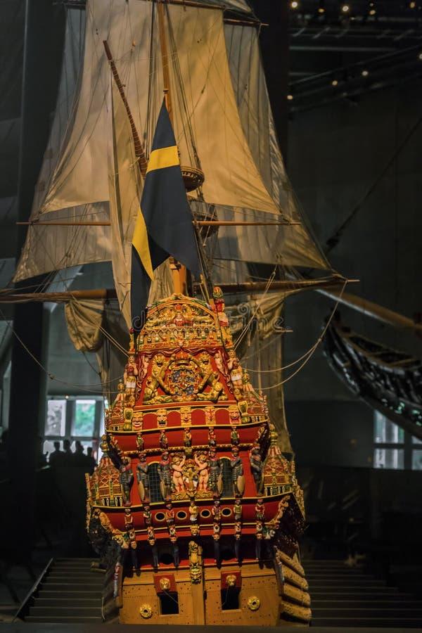 Musée des Vasa de bateau, Stockholm images libres de droits