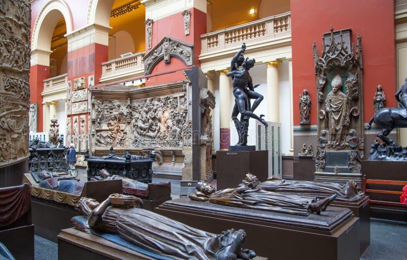 Musée du hall d'exposition V&A, Londres photo libre de droits