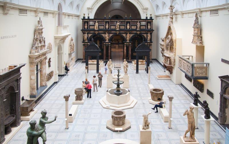 Musée du hall d'exposition V&A, Londres photos stock
