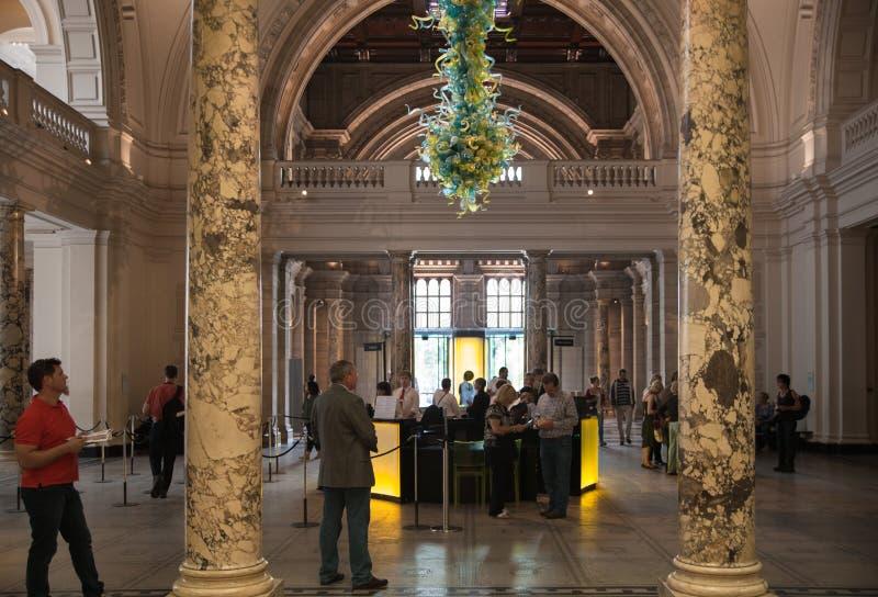 Musée du hall d'exposition V&A, Londres images stock