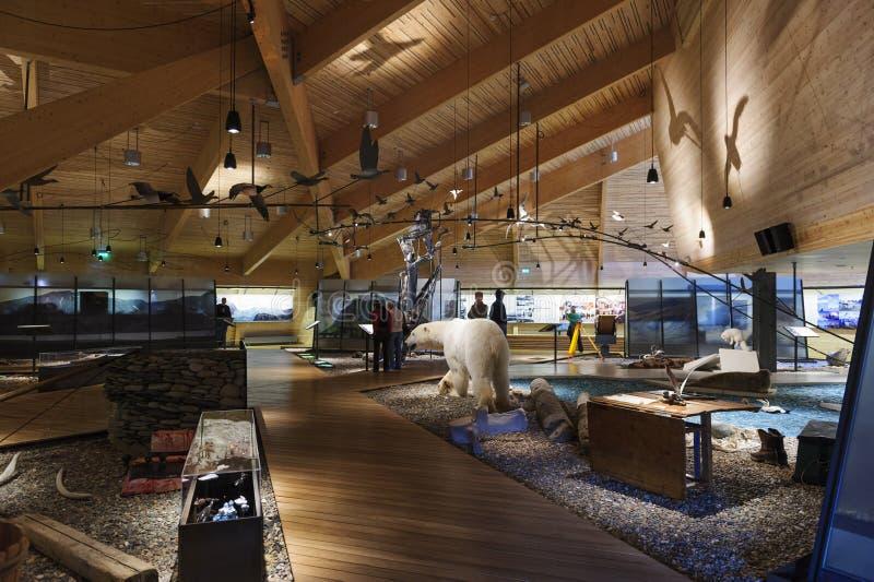 Musée du Svalbard, Longyearbyena, le Svalbard, Norvège images stock