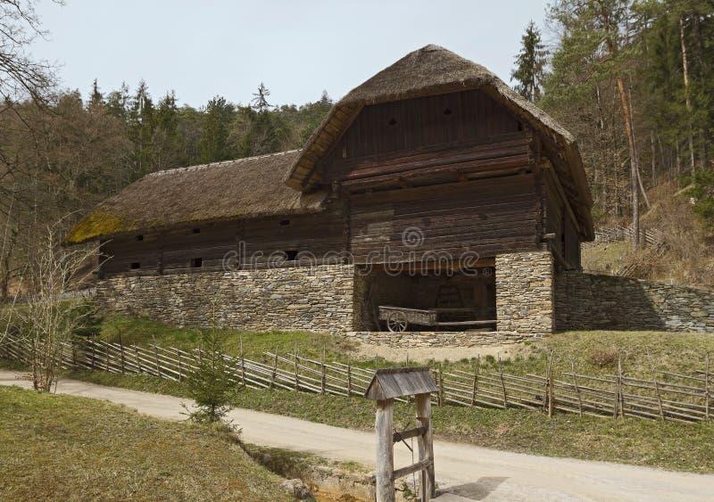 Musée en plein air autrichien Stuebing près de Graz : Grange de Naintsch photo stock