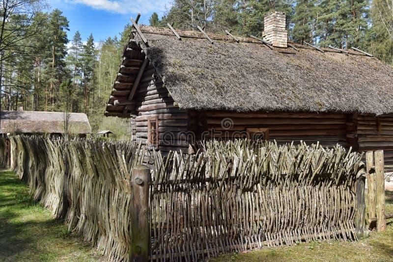 Musée ethnographique en plein air letton à Riga image libre de droits