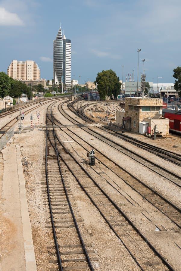 Musée ferroviaire à Haïfa photographie stock libre de droits