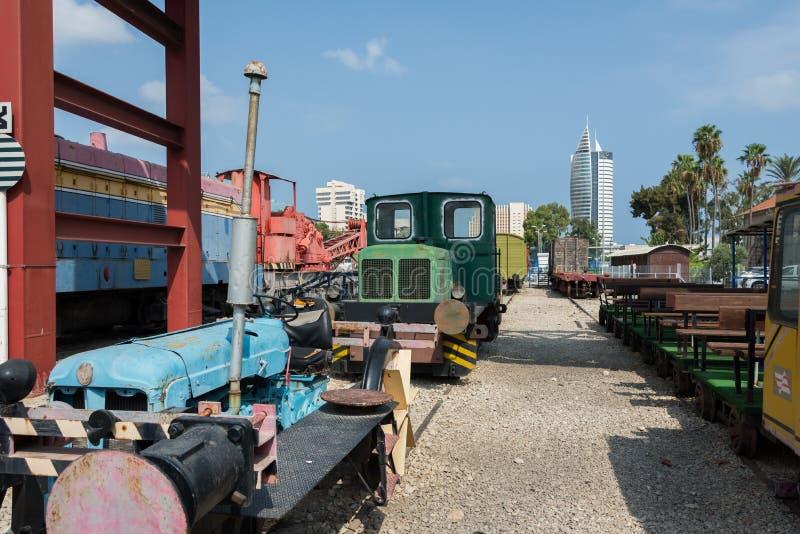 Musée ferroviaire à Haïfa image libre de droits