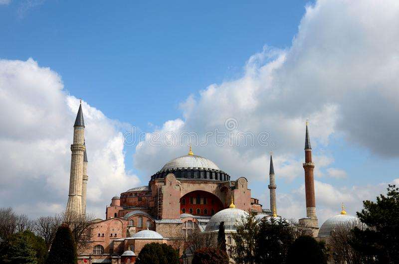 Musée Istanbul Turquie de basilique de Hagia Sophia images stock