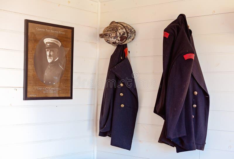 Musée maritime de colline de hampe de drapeaux des uniformes des pompiers, Australie images libres de droits