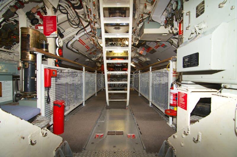 Musée maritime de torpille du compartiment HMAS d'Australie occidentale en avant de fours photographie stock libre de droits