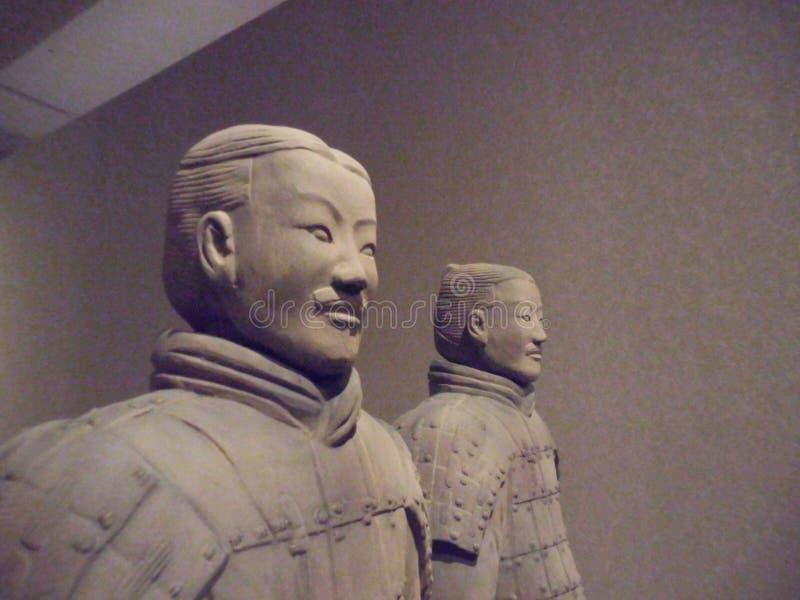 Musée National d'art, Osaka, Japon La grande armée de terre cuite de l'empereur du ` s premier de la Chine 5 juillet - 2 octobre  photo libre de droits