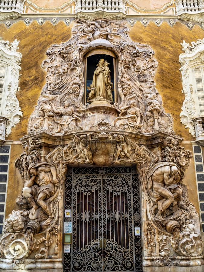 Musée National de céramique et d'arts décoratifs à Valence, Espagne photographie stock libre de droits