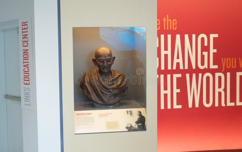 Musée national de droits civiques d'objet exposé de Gandhi chez Lorraine Motel photographie stock