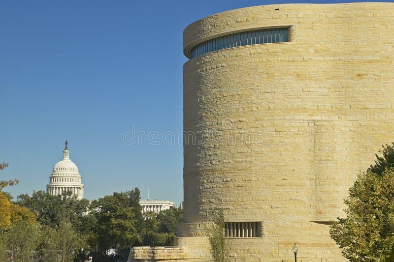 Musée National de l'Indien d'Amerique et du capitol des USA, Smithsonien, dans DC de Washington C photo libre de droits