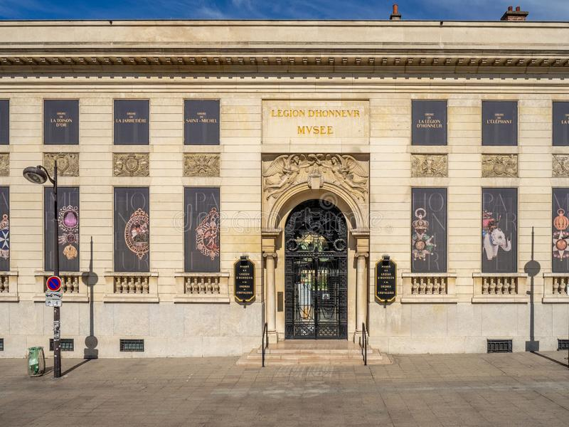 Musée National de la légion d'honneur et d'ordres de chevalerie à Paris, France photographie stock