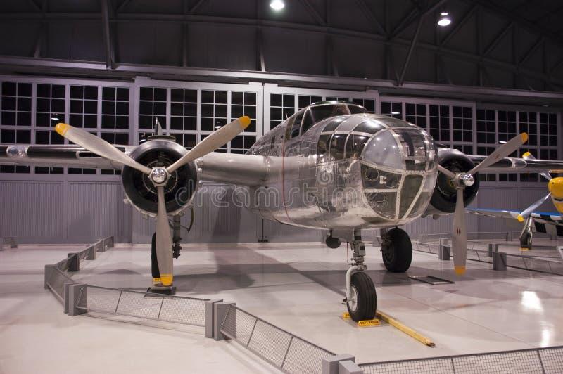 Musée Ohskosh le Wisconsin d'EAA de bombardier de B-25 Mitchell photo libre de droits
