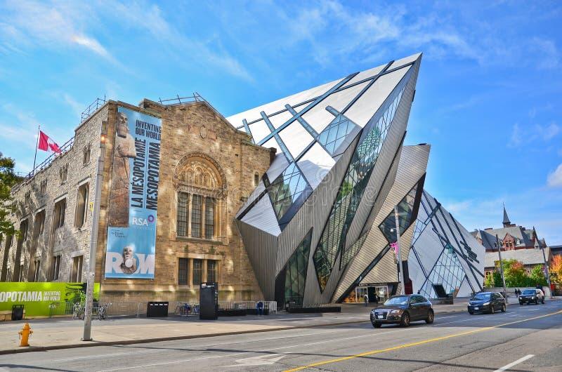 Musée royal d'Ontario dans un jour ensoleillé à Toronto photographie stock libre de droits