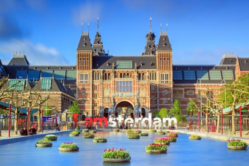 Musée vibrant Amsterdam de tulipes image stock