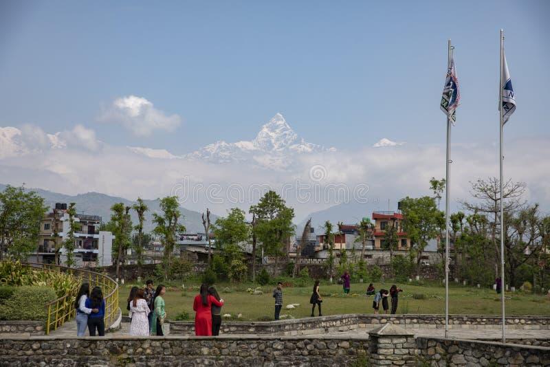 Mus?e international de montagne dans Pokhara, N?pal photographie stock