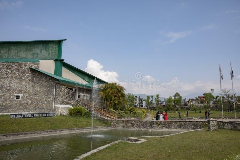 Mus?e international de montagne dans Pokhara, N?pal image stock