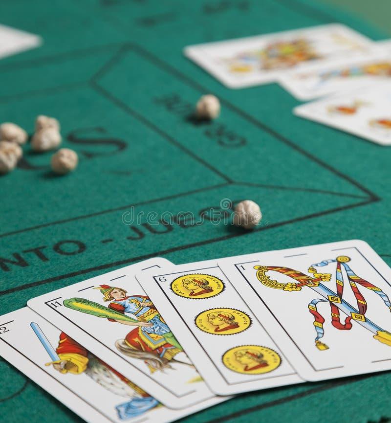 Mus is een Spaans kaartspel stock foto's