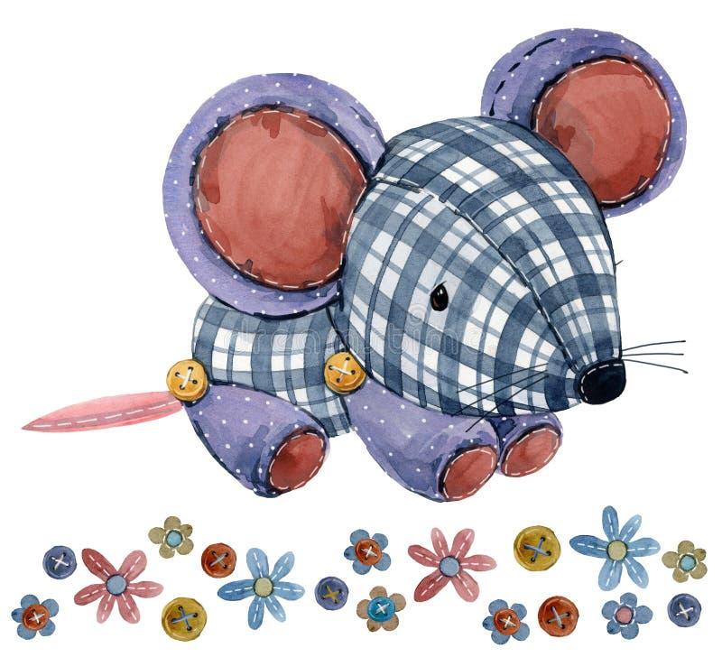 mus tecknad filmlantgårddjur royaltyfri illustrationer