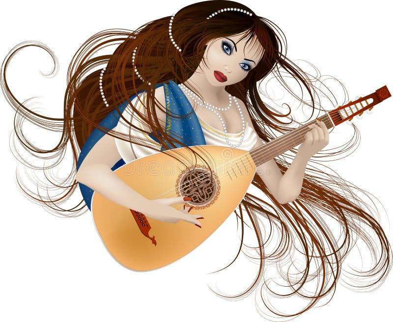 Musa da música ilustração royalty free