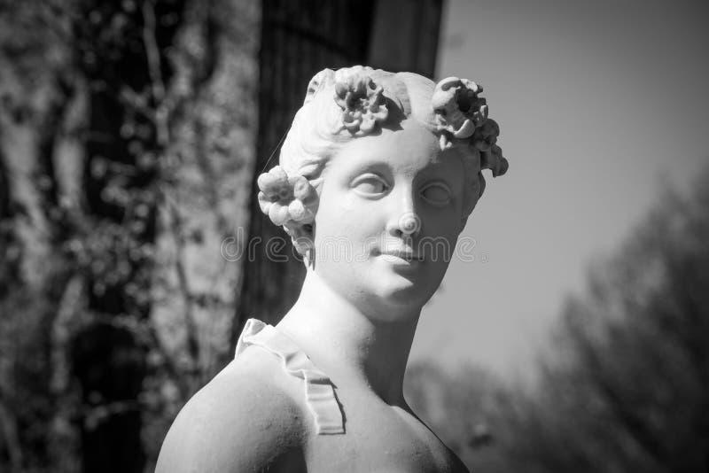Musa de Evterpa de la poesía lírica fotos de archivo libres de regalías