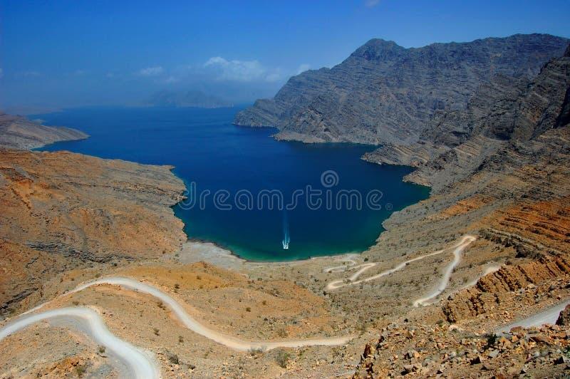 Musandam Oman royaltyfri fotografi