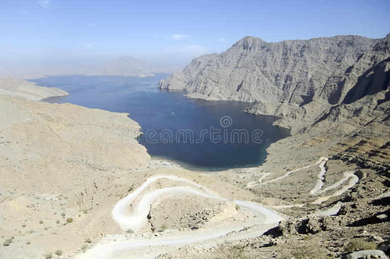 musandam Oman de fjord images stock