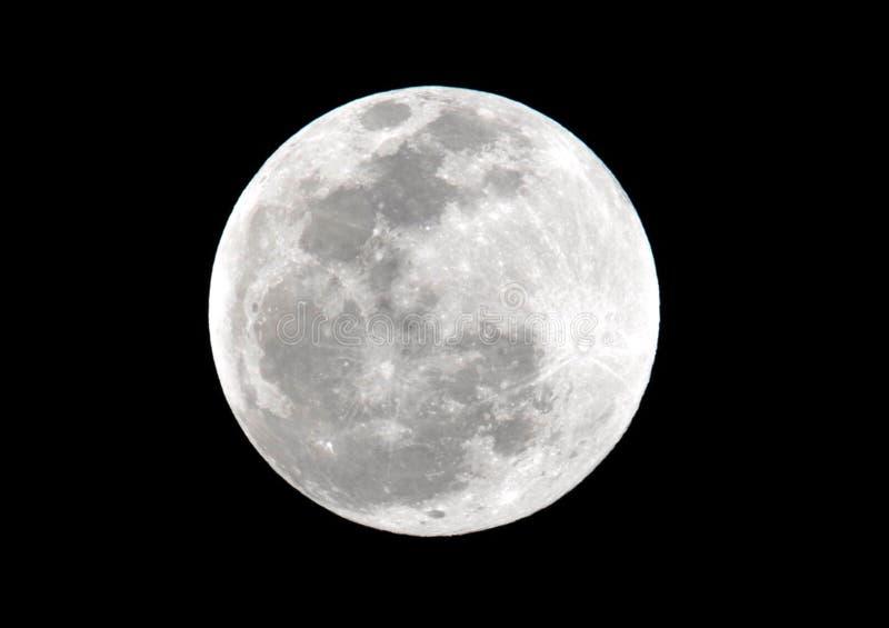 Musardez, éclipse lunaire de total vue d'Utila, Honduras image libre de droits