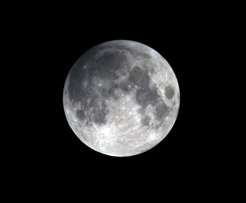 Musardez, éclipse lunaire partielle Los Angeles, la Californie images stock