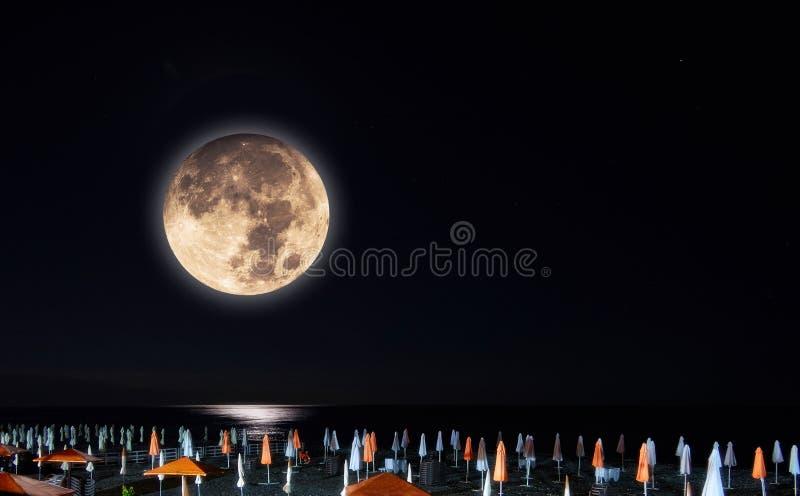 Musardez le collage de la ruelle légère sur la plage de la Mer Noire photo libre de droits
