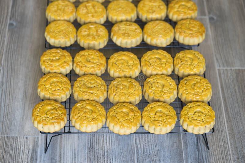 Musardez le gâteau, nourriture pour le festival lunaire chinois de mi-automne image libre de droits