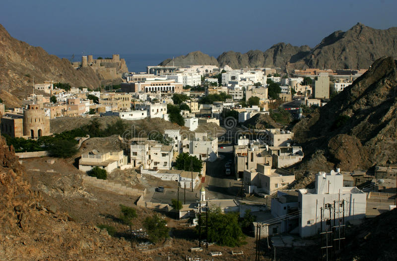 Muscat η πρωτεύουσα του Ομάν στοκ φωτογραφία με δικαίωμα ελεύθερης χρήσης