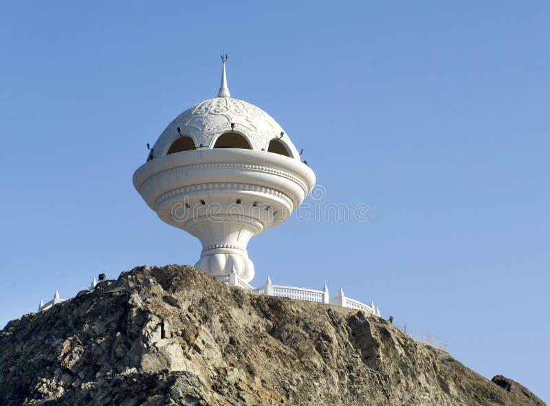 Muscat ορόσημο, ο γιγαντιαίος καυστήρας θυμιάματος στοκ φωτογραφίες