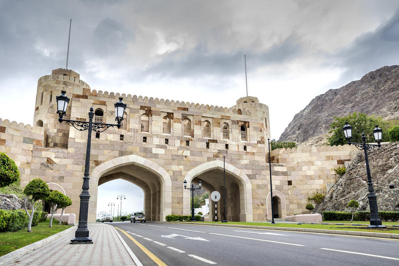 Muscat πυλών πόλεων στοκ φωτογραφία