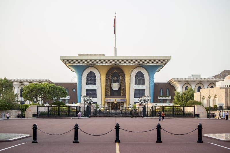 Muscat Al Alam Palace fotografering för bildbyråer