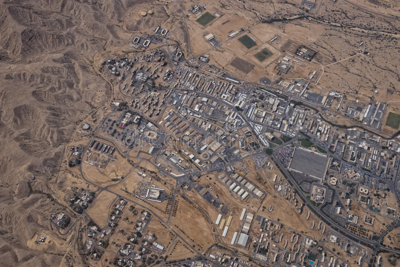 Muscat arabic town aerial view landcape royalty free stock photos