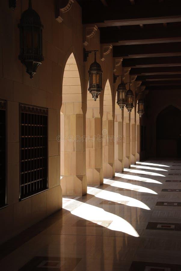 Muscat grand de mosquée images stock