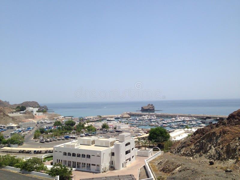 Muscat marina royaltyfri foto