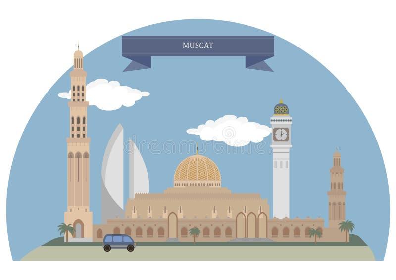 Muscat, Oman. Muscat, capital city of Oman royalty free illustration