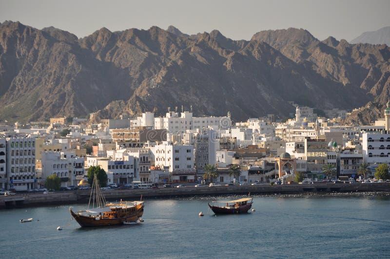 Muscat Oman kust royaltyfria bilder