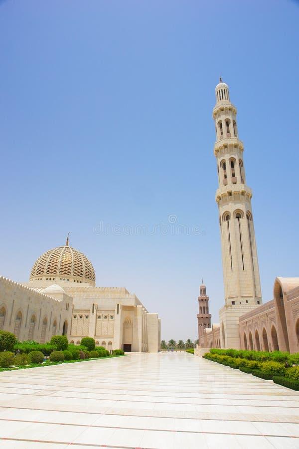 Muscat, Oman - mosquée grande de Qaboos de sultan photos libres de droits