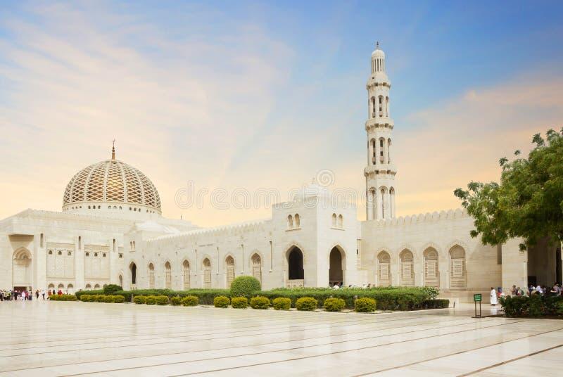 Muscat Oman, Sultan Qaboos Grand moské arkivfoto