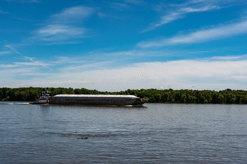 Towboat and barge stock photos
