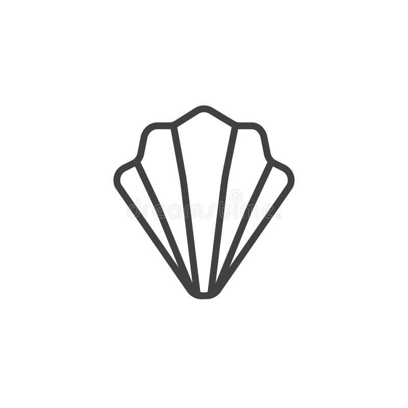 Muschellinie Ikone stock abbildung
