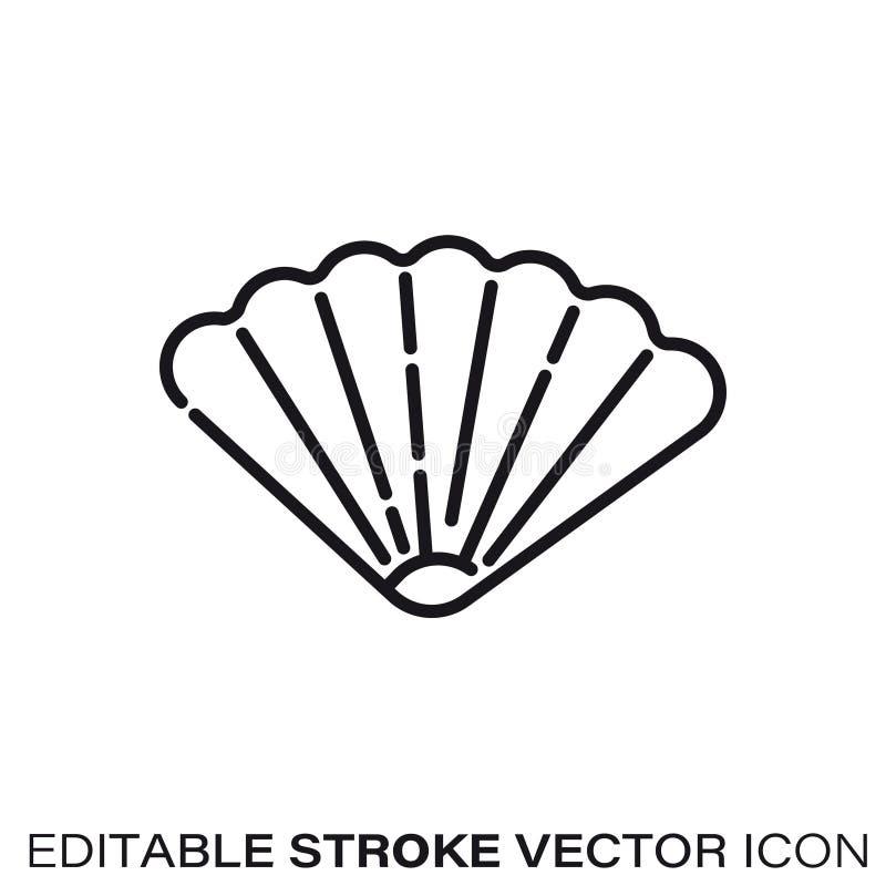 Muschelvektorlinie Ikone vektor abbildung